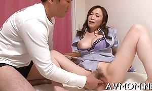 Horny mother i'_d like to fuck receives trio