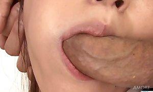 Unskilful threesome porn set-to on every side young Ryo Asaka