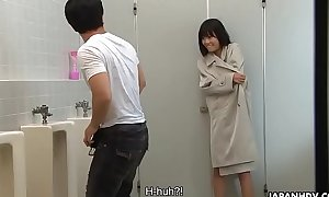Brainwashed Asian nympho hunts for cocks concerning the public toilet