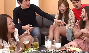 Creaming Asian sluts as the party gets sentimental up