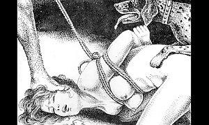 Slaves on touching rope japanese art avant-garde servitude ext...