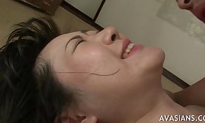 Asian dirty slut wife takes anal