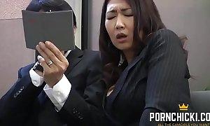 JAV Secretary fucked by her older brass hats - More at PornChicki.com