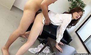 Japanese boss can'_t control with secretry in office hard sexual congress