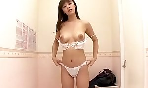 Asian Milf buying advanced brassiere to impress darling