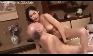 Horny Daugther to Law with father