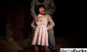 Marica acquires stripped unexpectedly to caressed in the basement