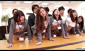 JAV jumbo group sexual relations office party in HD apropos Subtitles