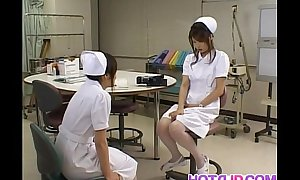 Emiri Aoi nurse loves aid of sex toy on hammer away top of horde