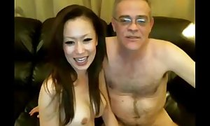 Old Man and Chinese Dame on Livecam